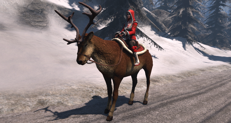 Thank you, Insein, for modeling the Flightless Reindeer!